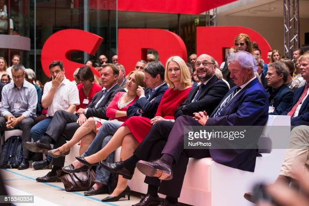 Chancellor Candidate and Chairman of the Social Democratic Party Martin Schulz President of MeklenburgVorpommern Manuela Schweisg Environment...