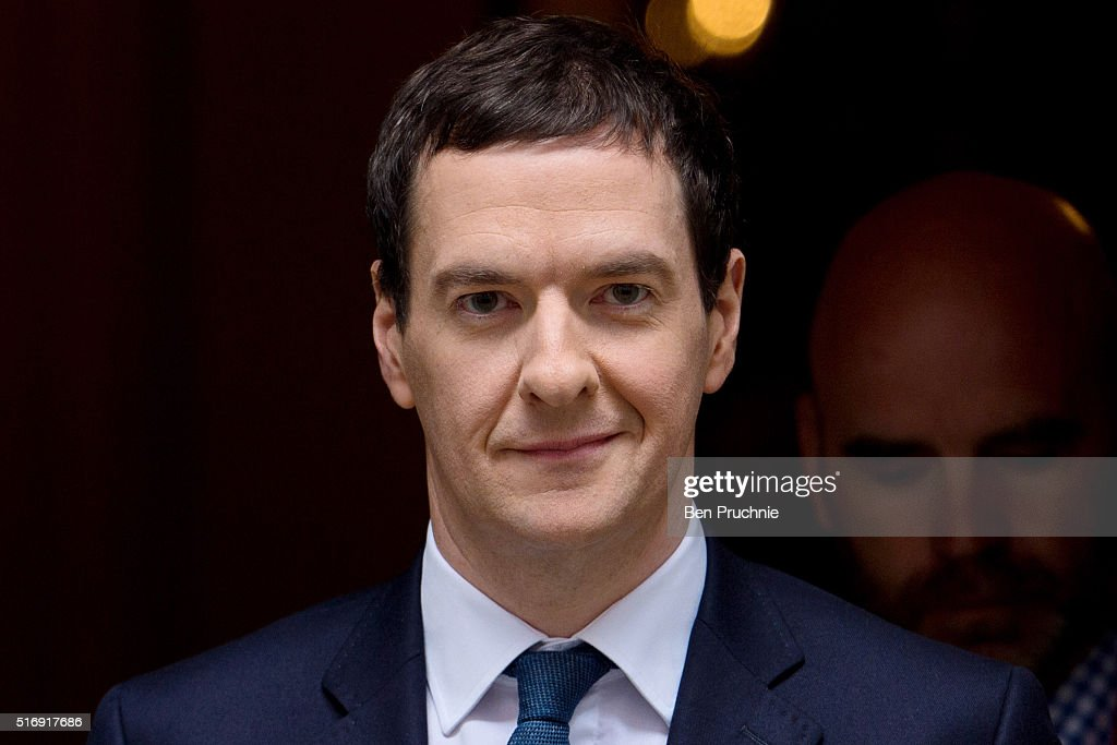 Chancellor <a gi-track='captionPersonalityLinkClicked' href=/galleries/search?phrase=George+Osborne&family=editorial&specificpeople=5544226 ng-click='$event.stopPropagation()'>George Osborne</a> departs Number 11 Downing Street on March 22, 2016 in London, England. The Chancellor will today defend the 2016 budget ahead of a vote by the House of Commons.