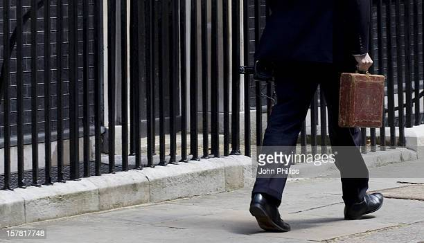 Chancellor George Osborne Leaves Number 11 Downing Street To Deliver Emergency Budget Six Weeks After The Coalition Government Came To Power Downing...