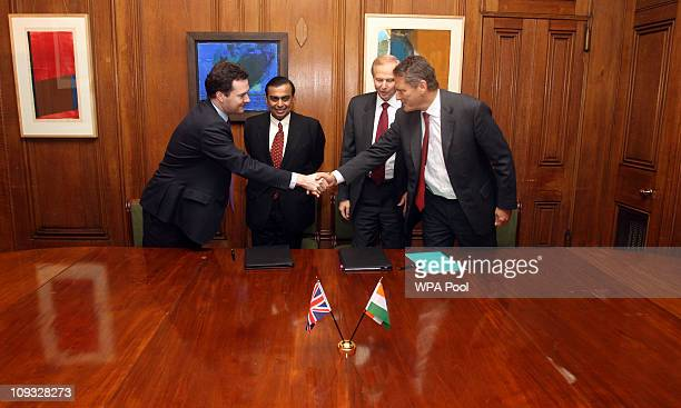 Chancellor George Osborne Mukesh Ambani Chairman and Managing Director of Reliance Industries Robert Dudley CEO of BP and CarlHenric Svanberg...