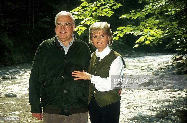 Chancellor Helmut Kohl and wife Hannelore on holidays in Sankt Gilgen Austria on August 14 1993