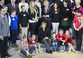 Chancellor of Germany Angela Merkel Minister of Defense Ursula von der Leyen and the families of soldiers who are working in the foreign missions...