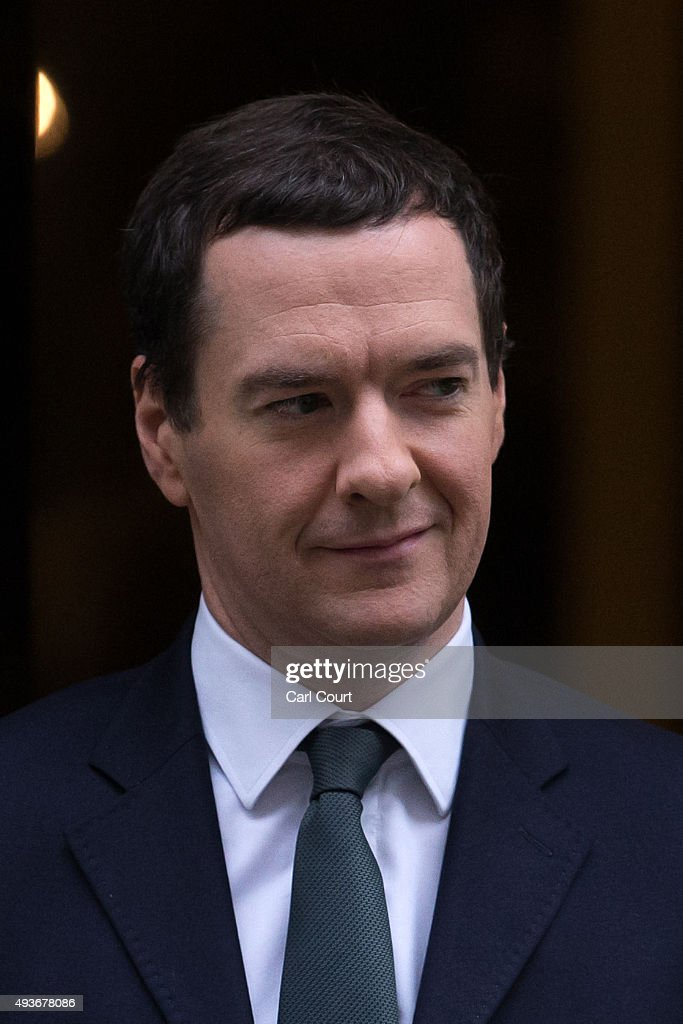 Chancellor of the Exchequer <a gi-track='captionPersonalityLinkClicked' href=/galleries/search?phrase=George+Osborne&family=editorial&specificpeople=5544226 ng-click='$event.stopPropagation()'>George Osborne</a> leaves Downing Street on October 22, 2015 in London, England. Mr Osborne is due to attend a Treasury Select Committee later this morning to answer questions on the Bank of England Bill.