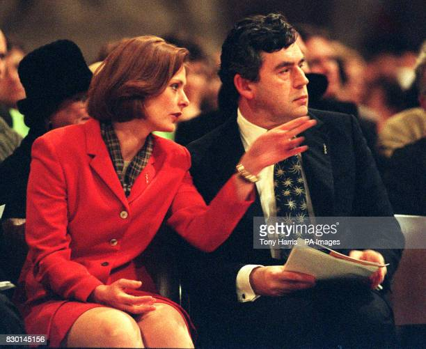 Chancellor of the Exchequer Gordon Brown and his girlfriend Sarah McCawley attend a meeting at St Paul's Cathedral organised by the London Jubilee...