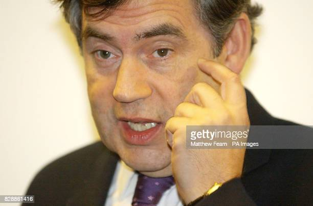 Chancellor of the Exchequer Gordon Brown attends the opening of the Yvonne Carr Community Centre in south London 30/01/04 A bleak outlook for public...
