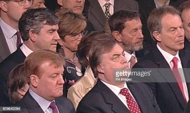 Chancellor of the Exchequer Gordon Brown Liberal Democrat Party leader Charles Kennedy Deputy Prime Minister John Prescott Secretary of State for...