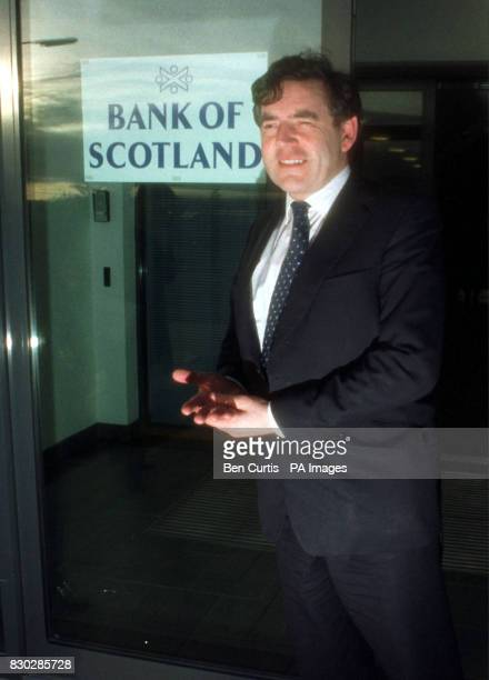 Chancellor of the Exchequer Gordon Brown opens the Bank of Scotland's Arrol House which is the first building to be let at the Rosyth Europarc...