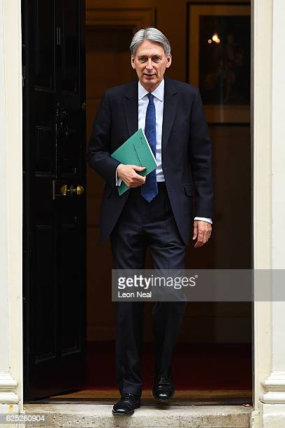 Chancellor of the Exchequer Philip Hammond leaves 11 Downing Street on November 23 2016 in London EnglandThe Autumn Statement is one of two budget...