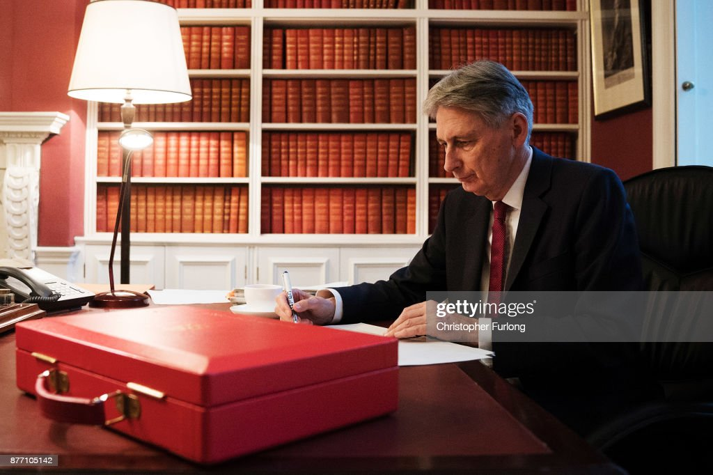 The Chancellor Philip Hammond Prepares To Give His Budget To Parliament