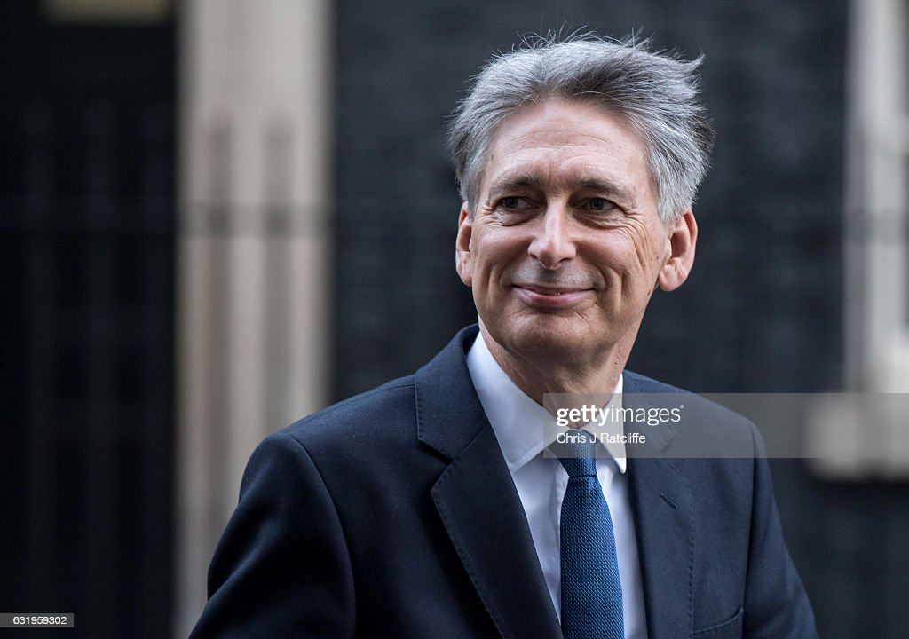 Chancellor of the Exchequer Phillip Hammond leaves 11 Downing Street on January 18, 2017 in London, England. This week's Prime Minister's Questions comes a day after Theresa May's speech outlining Brexit negotiations.