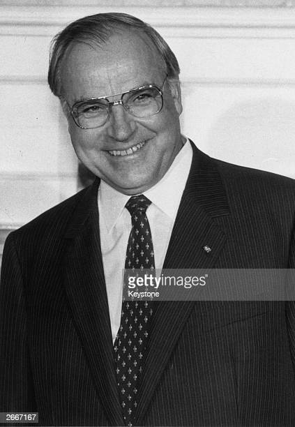 Chancellor of the Federal Republic of West Germany Helmut Kohl