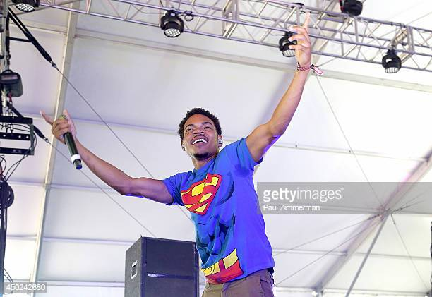 Chancelor Bennett aka Chance The Rapper performs during the 2014 Governors Ball Music Festival at Randall's Island on June 7 2014 in New York City