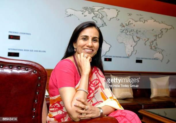 Chanda Kochar Deputy Managing Director ICICI Bank poses at office in Mumbai indial Potrait Sitting