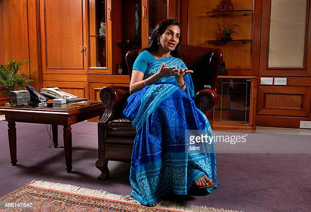 Chanda Kochar Managing Director and CEO of ICICI Bank Ltd poses for profile shoot on during an interview on September 10 2009in Mumbai India