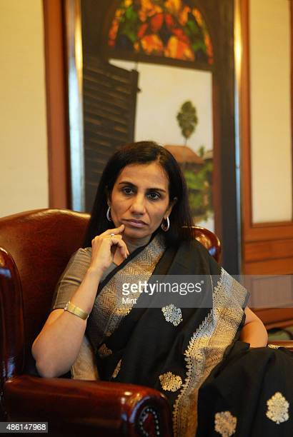 Chanda Kochar Managing Director and CEO of ICICI Bank Ltd poses for profile shoot on during an interview on March 24 2010 in Mumbai India