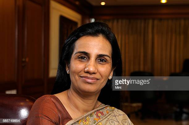 Chanda Kochchar Managing Director and CEO of ICICI poses during an exclusive interview on January 2 2013 in Mumbai India