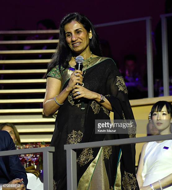 Chanda Kochhar attends TIME 100 Gala TIME's 100 Most Influential People In The World at Jazz at Lincoln Center on April 21 2015 in New York City