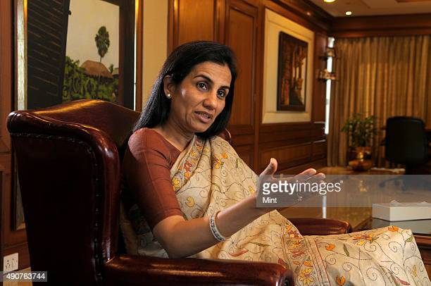 Chanda Kochhar Managing Director and CEO of ICICI during an interview at her office on January 2 2013 in Mumbai India