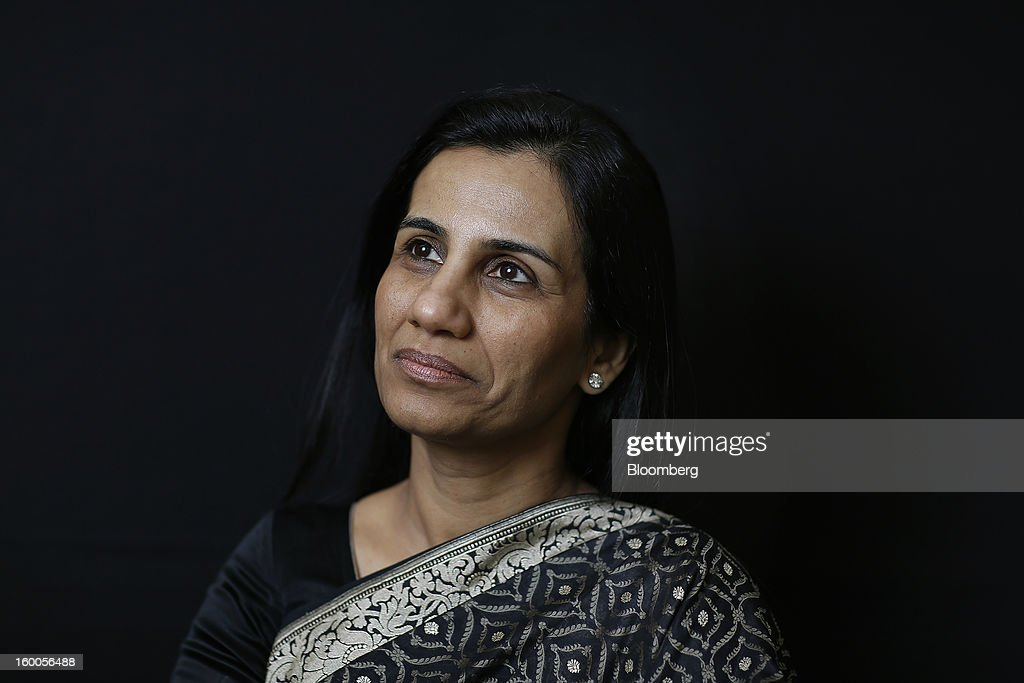 Chanda Kochhar, managing director and chief executive officer of ICICI Bank Ltd., poses for a photograph following a Bloomberg Television interview on day three of the World Economic Forum (WEF) in Davos, Switzerland, on Friday, Jan. 25, 2013. World leaders, influential executives, bankers and policy makers attend the 43rd annual meeting of the World Economic Forum in Davos, the five day event runs from Jan. 23-27. Photographer: Simon Dawson/Bloomberg via Getty Images