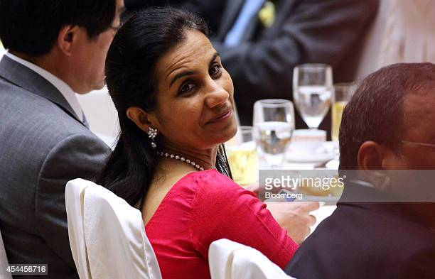 Chanda Kochhar managing director and chief executive officer of ICICI Bank Ltd center attends a a luncheon hosted by Japanese business groups at the...