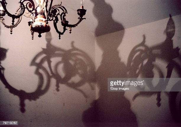 Chandelier and its shadow