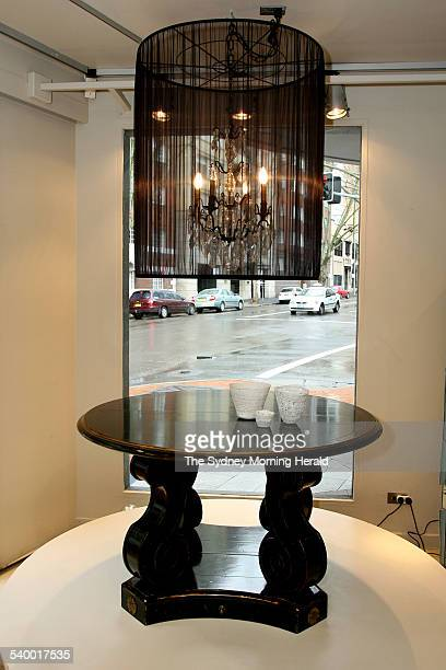 Chandelier and Napoleon table available at Arida 61 Macleay Street Potts Point 3 August 2006 SMH DOMAIN Picture by DOMINO POSTIGLIONE