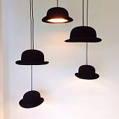 Chandelier Made Of Bowler Hats