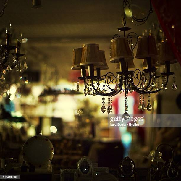 Chandelier With Decorative Objects In Shop For Sale
