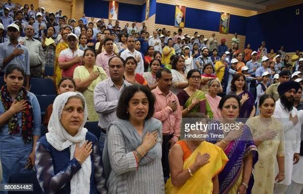 Chandigarh Commission for Protection of Child Rights Chairperson Harjinder Kaur Chandigarh MP Kirron Kher and others take pledge against child labour...