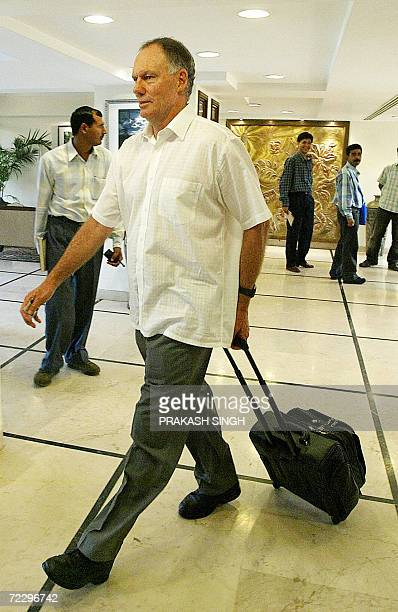 India cricket coach Greg Chappell leaves the hotel in Chandigarh 30 October 2006 Veterans Anil Kumble and Zaheer Khan were recalled to the...