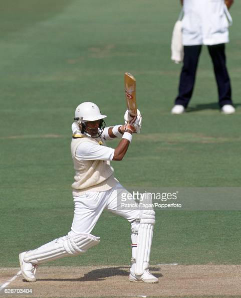 Chandika Hathurusingha batting for Sri Lanka during the Only Test match between England and Sri Lanka at Lord's Cricket Ground London 23rd August 1991