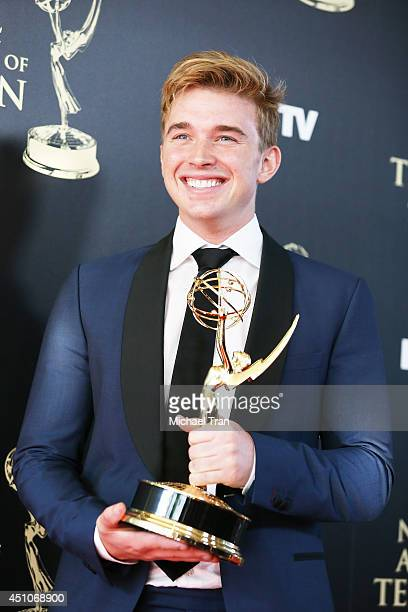 Chandler Massey attends the 41st Annual Daytime Emmy Awards press room held at The Beverly Hilton Hotel on June 22 2014 in Beverly Hills California