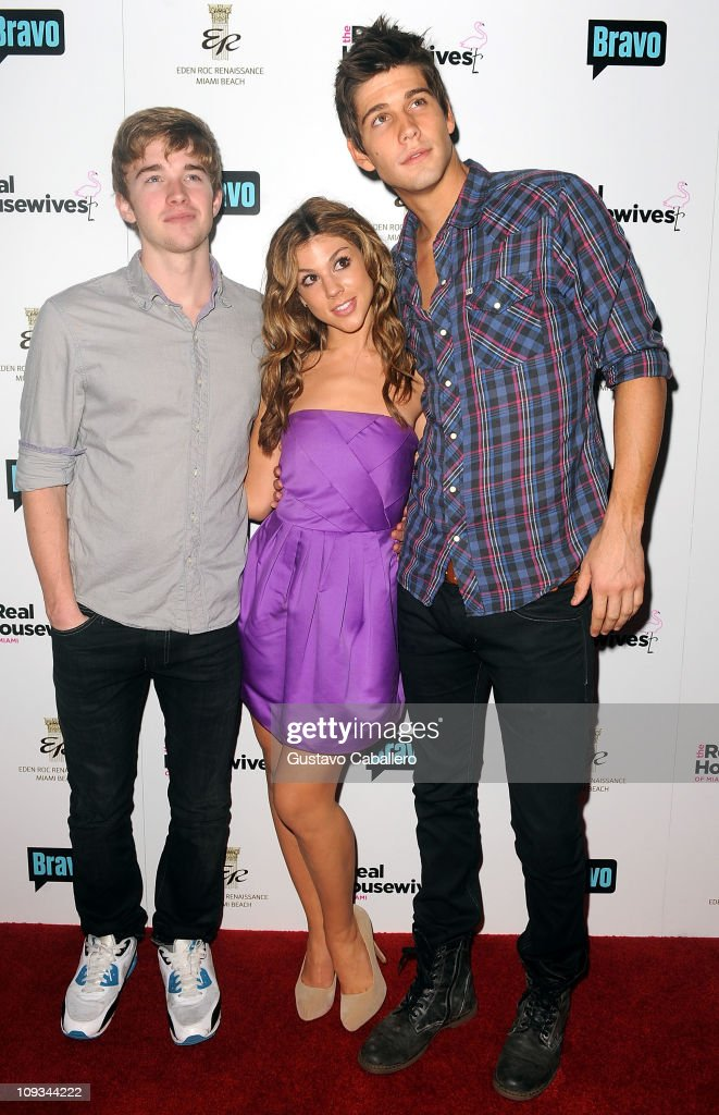 Chandler Massey, Kate Mansi and Casey Deidrick attends The Real Housewives of Miami Premiere Party at Eden Roc, a Renaissance Beach Resort and Spa on February 21, 2011 in Miami Beach, Florida.