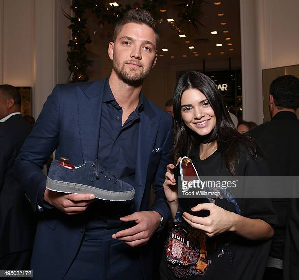 Chandler Parsons and Kendall Jenner attend a Del Toro Chandler Parsons Event at Saks Fifth Avenue Beverly Hills on October 30 2015 in Beverly Hills...