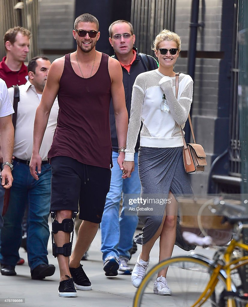 Chandler Parsons and Toni Garrn are seen in Soho on June 3 2015 in New York City