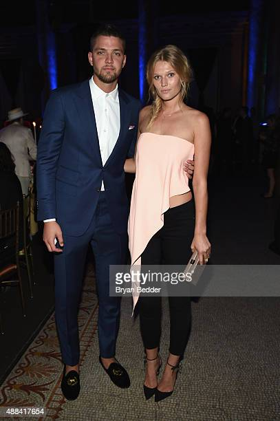 Chandler Parsons and Toni Garrn attend the Unitas gala against Sex Trafficking at Capitale on September 15 2015 in New York City