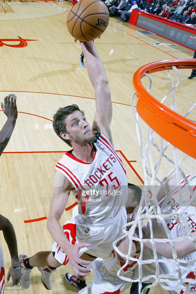Chandler Parsons #25 of the Houston Rockets drives to the basket against the Washington Wizards on December 12, 2012 at the Toyota Center in Houston, Texas.