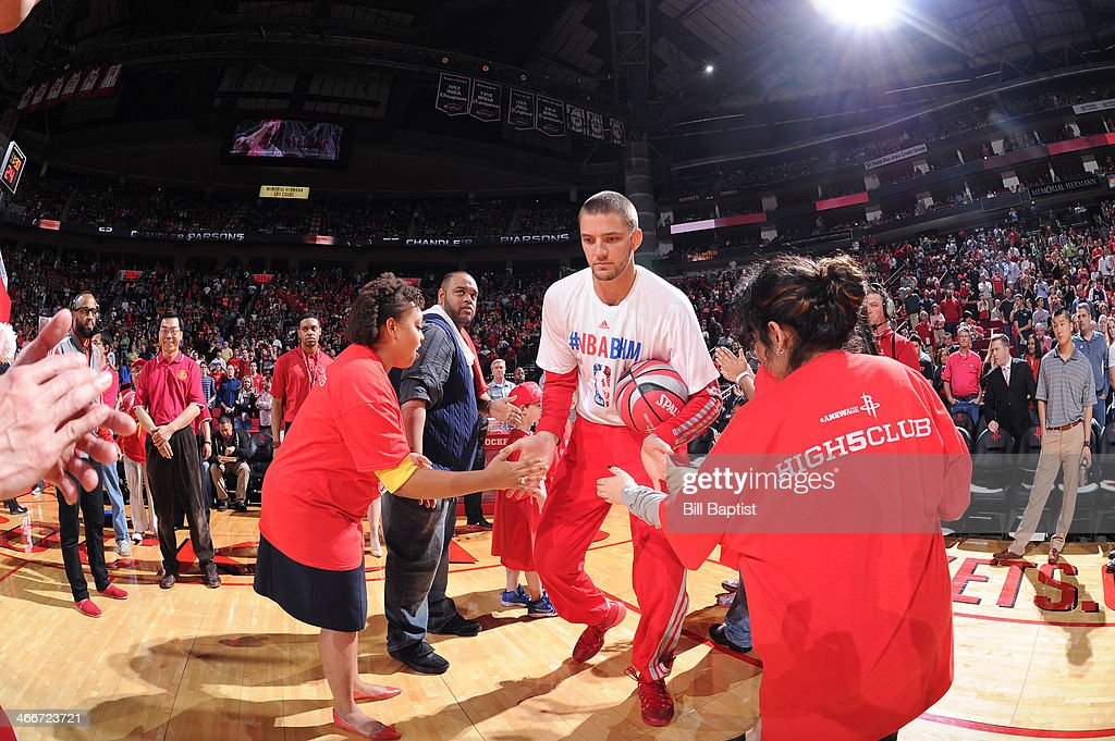 <a gi-track='captionPersonalityLinkClicked' href=/galleries/search?phrase=Chandler+Parsons&family=editorial&specificpeople=4249869 ng-click='$event.stopPropagation()'>Chandler Parsons</a> #25 of the Houston Rockets is announced before the game against the Cleveland Cavaliers on February 1, 2014 at the Toyota Center in Houston, Texas.