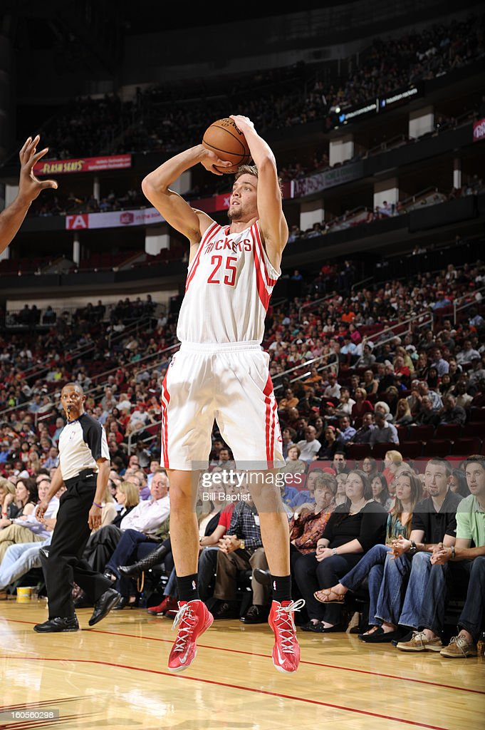 Chandler Parsons #25 of the Houston Rockets shoots the ball against the Charlotte Bobcats on February 2, 2013 at the Toyota Center in Houston, Texas.