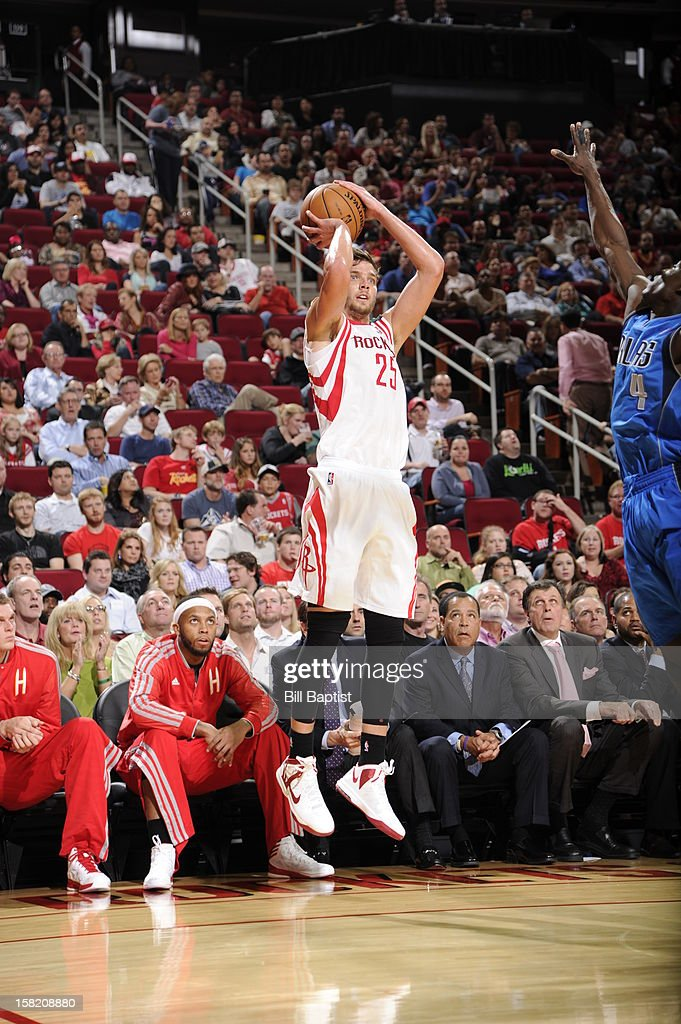 <a gi-track='captionPersonalityLinkClicked' href=/galleries/search?phrase=Chandler+Parsons&family=editorial&specificpeople=4249869 ng-click='$event.stopPropagation()'>Chandler Parsons</a> #25 of the Houston Rockets takes a jump shot against the Dallas Mavericks on December 8, 2012 at the Toyota Center in Houston, Texas.