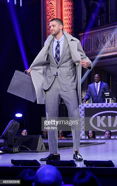 Chandler Parsons walks the runway during the NBA AllStar AllStyle presented by Samsung Galaxy the firstever NBA fashion show executive produced by...