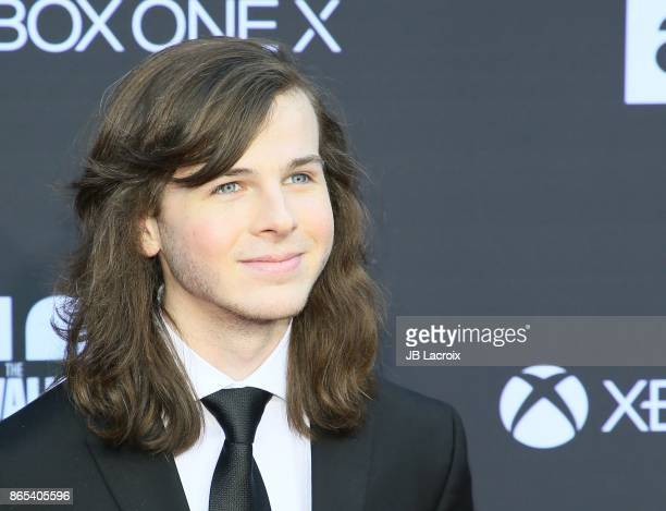 Chandler Riggs attends the 100th episode celebration off 'The Walking Dead' at The Greek Theatre on October 22 2017 in Los Angeles California
