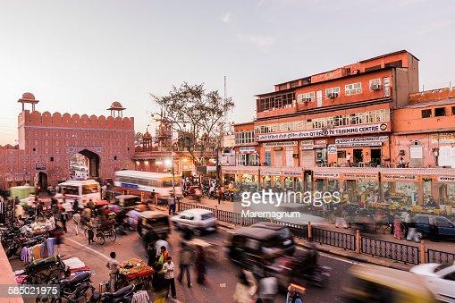 Chandpol Bazaar near Chandpol Gate
