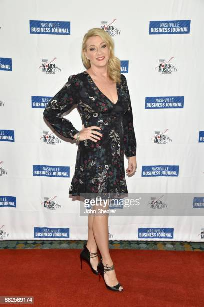 Chandra LaPlume of Taillight TV arrives at the 2017 Nashville Business Journal Women In Music City on October 17 2017 in Nashville Tennessee