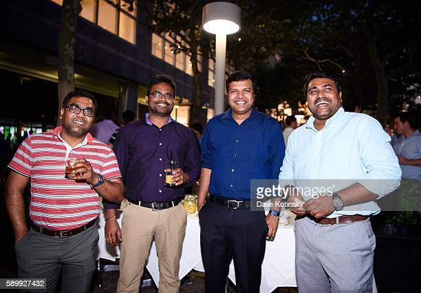 Chandra Srini Satish and Praneeth at the ITI Data Corporate Summer Party held at PJ Clarke's NYC on July 14 2016 in New York City