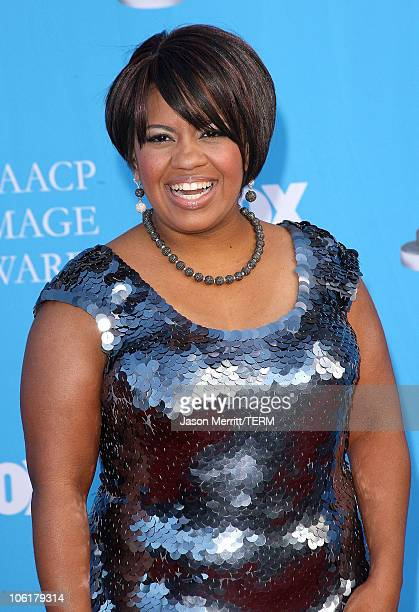 Chandra Wilson arrive at the 39th NAACP Image Awards held at the Shrine Auditorium on February 14 2008 in Los Angeles California