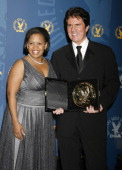 Chandra Wilson presenter with Rob Marshall winner of Outstanding Directorial Achievement in Musical Variety for 'Tony Bennett An American Classic'