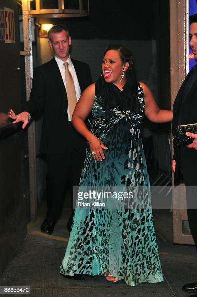 Chandra Wilson signs autographs after her debut in 'Chicago' on Broadway at Ambassador Theatre on June 8 2009 in New York City