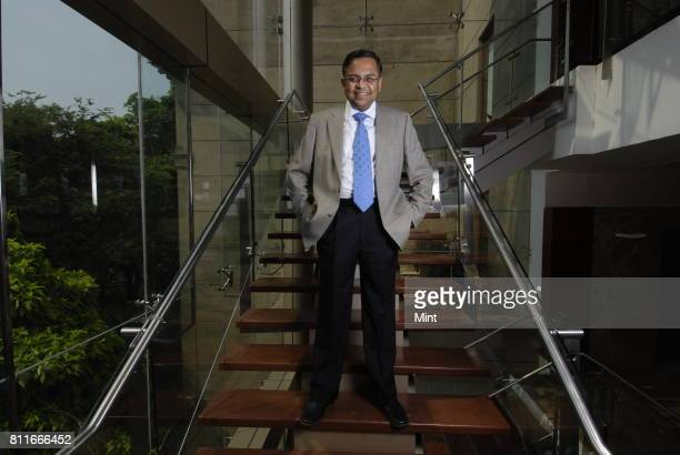 N Chandrasekaran Executive Director and Chief Operating officer of Tata Consultancy Services poses for photograph at company's headquarter in Mumbai