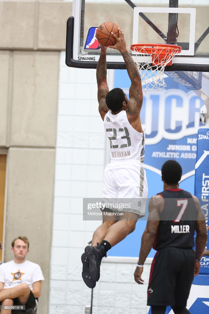 Chane Behanan #23 of the Salt Lake City Stars goes up for the dunk against the Sioux Falls Skyforce at Bruins Arena on March 11, 2017 in Taylorsville, Utah.